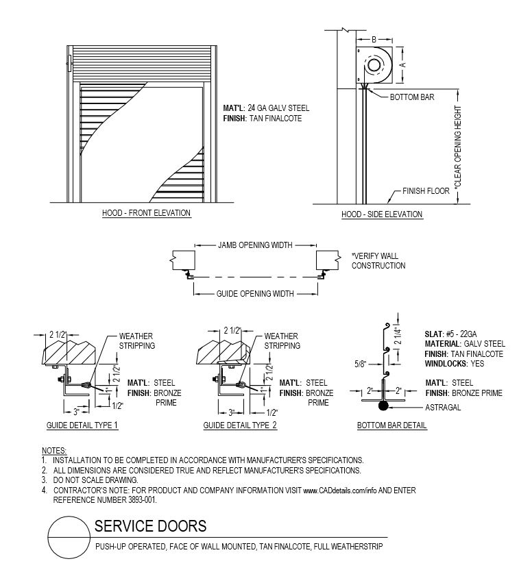 Overhead Door Drawing