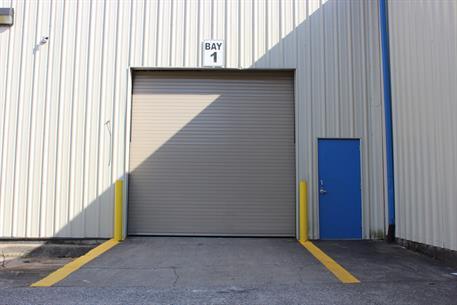 High Speed Roll Up Door Exterior View 300 Series Door