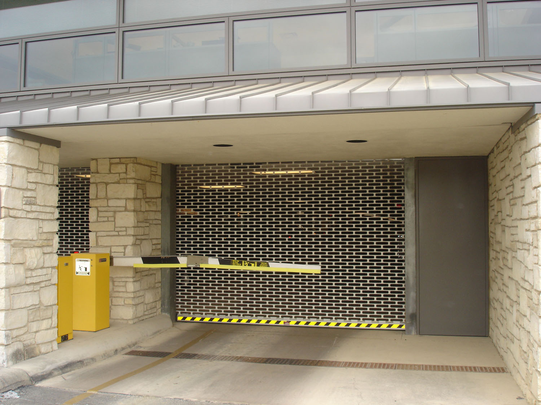 metal gates parking garage