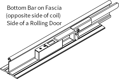 CYLINDER LOCK -FASCIA - STD BOTTOM BAR
