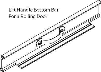DOOR HANDLE ASSEMBLY - STD BOTTOM BAR