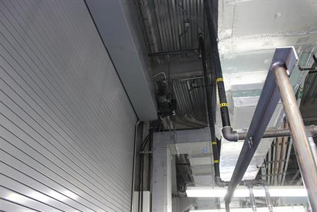 Overhead Door Hospital dock - inside with coil