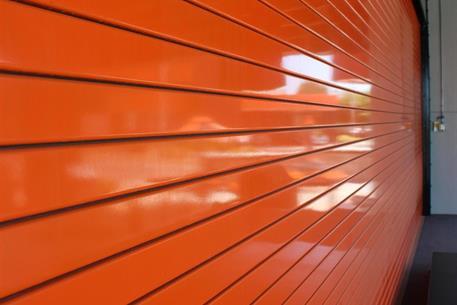 steel doors orange-service-door-slats ... & Rolling Service Door