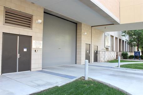 Rolling steel door on building -  Overhead Garage Door Hospital Il