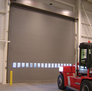 high speed roll up doors forklift