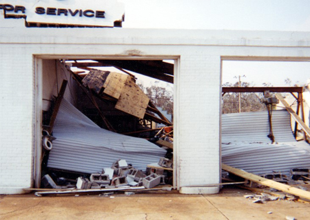 Hurricane Rated Doors Damage 3