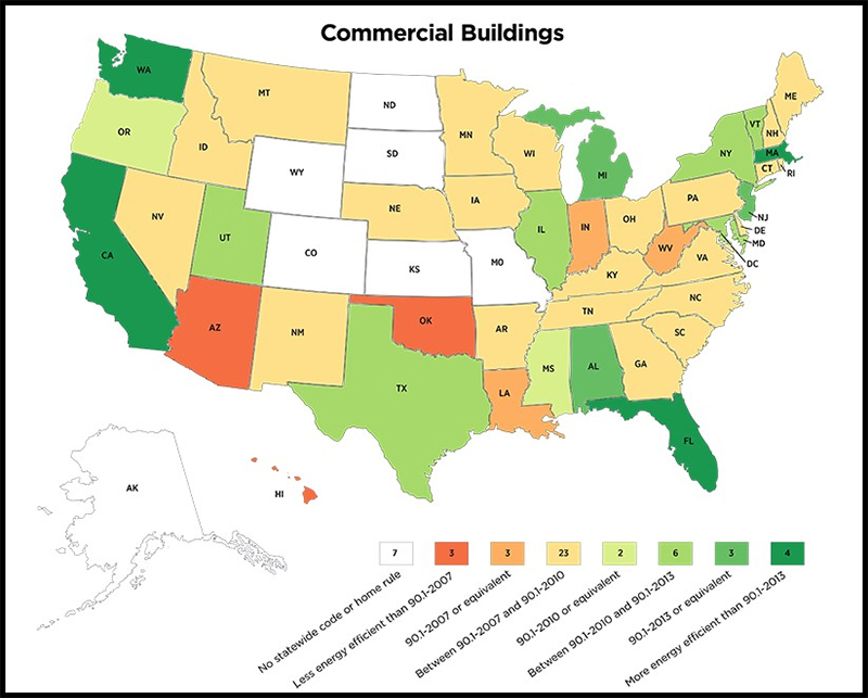 insulated garage door energy code map