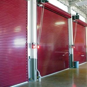 Insulated Roll Up Door Red