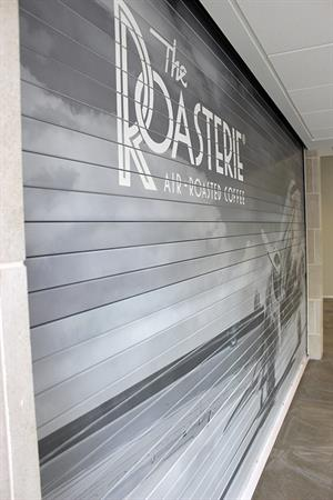 Roll Up Garage Door with Vinyl Graphics