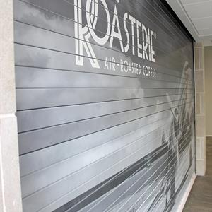 Steel Roll Up Door with Vinyl Graphics
