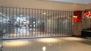 VistaGard Security Gates Inside Mall
