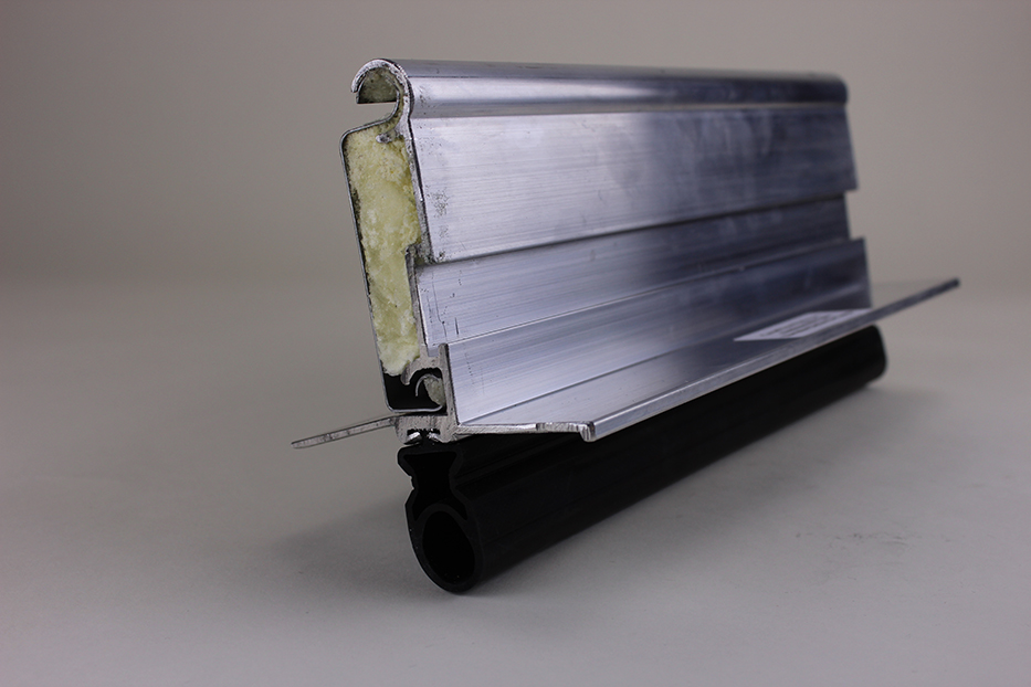 Extruded alum. mill powder coated bottom bar w/astragal for insulated doors & Parts