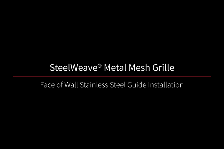 SteelWeave Grille Face of Wall Video Thumbnail Black