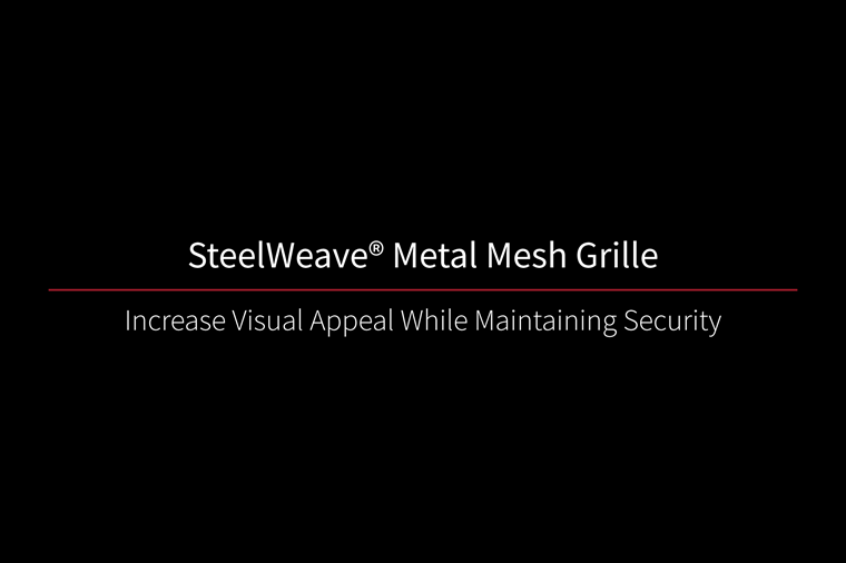 SteelWeave Grille Video Thumbnail Black